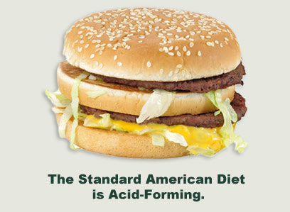 The standard American diet is acid-forming
