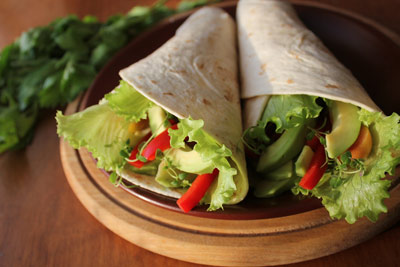 healthy vegetarian wrap